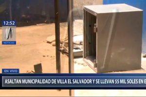 Villa El Salvador: Delincuentes roban 55 mil soles de la municipalidad