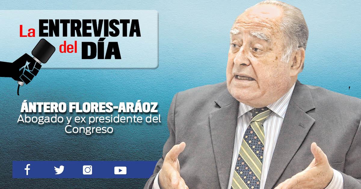 """Ántero Flores-Aráoz: """"Vizcarra cae en sondeos porque no soluciona  ni un solo problema"""""""