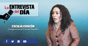 """Cecilia Chacón: """"No se debe meter preso a nadie hasta que se le condene"""""""