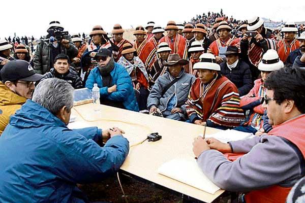 Se retoma diálogo por conflicto Las Bambas