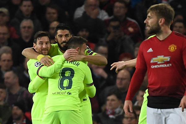 UEFA Champions League 2019: Manchester United vs. Barcelona (0-1)