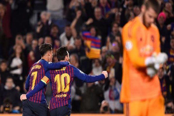 UEFA Champions League 2019: Barcelona vs. Manchester United (3-0)