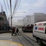 Reportan incendio en almacén de la avenida Morales Duárez en el Cercado de Lima