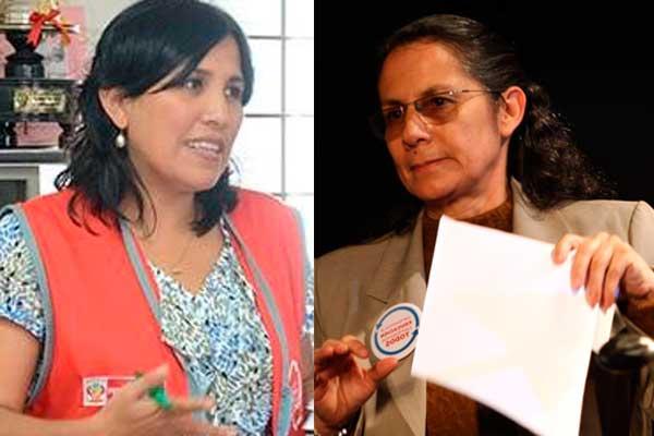 Patricia Salas y Flor Pablo en Comisión de Educación