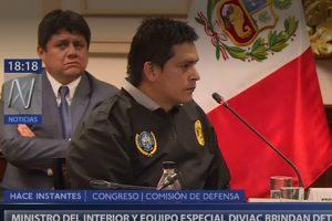 Altercado entre miembro de la Diviac y Del Castillo en Comisión de Defensa [VIDEO]