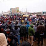 Carabayllo: vecinos bloquean carretera Túpac Amaru para exigir obras de agua y desagüe [FOTOS]