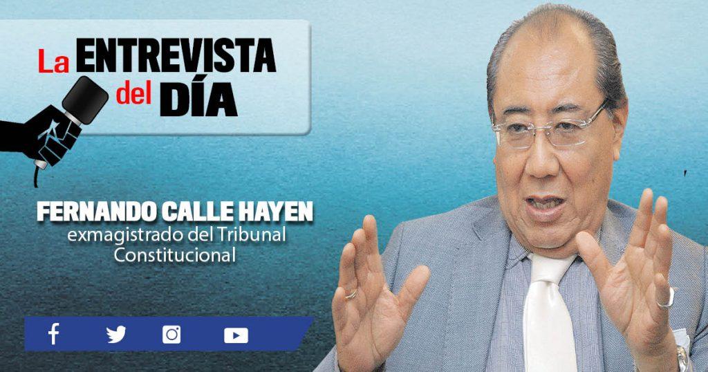 """Fernando Calle Hayen: """"Inmunidad no niega el derecho a un proceso penal"""""""