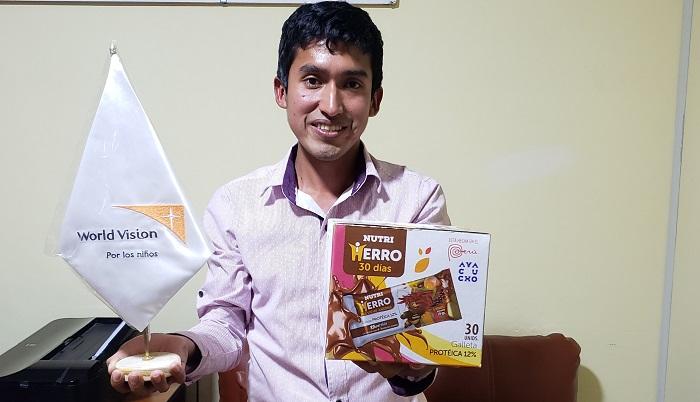 Joven que descubrió solución contra la anemia pide apoyo al presidente Vizcarra