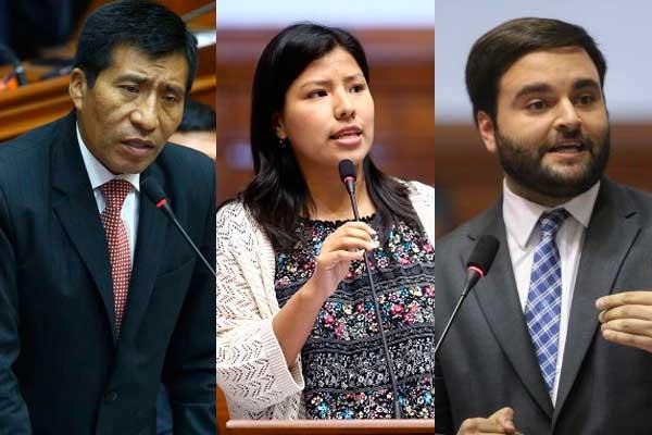 Ciudadanos increpan a congresistas Mamani, Huilca y De Belaunde [VÍDEOS]