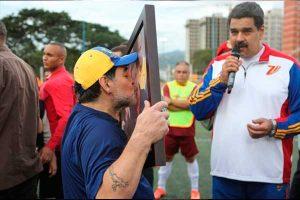 """Diego Maradona: """"Fuerza Venezuela, más unidos que nunca para derrotar un nuevo golpe de Estado"""""""
