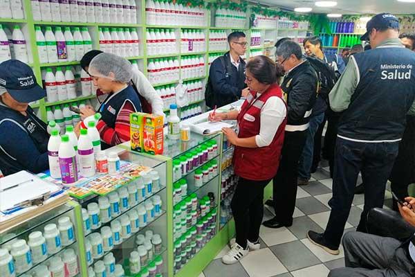 Digesa inspecciona productos naturistas que no cuentan con registro sanitario