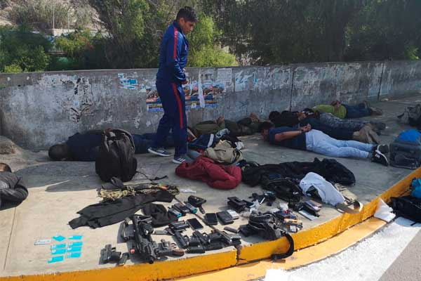 Sayán: PNP captura a 7 sujetos que portaban armas de fuego [VÍDEO]
