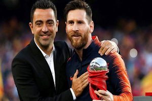 El mensaje de Messi a Xavi tras anunciar que se retira del fútbol profesional