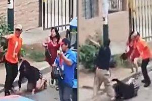 Indignante agresión a dos mujeres por sujetos en Independencia