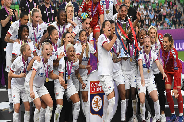 Olympique de Lyon se coronó campeón de la UEFA Champions League Femenina tras golear al Barcelona