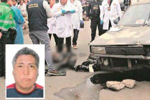 Independencia: Atropellan a hombre en medio de una balacera