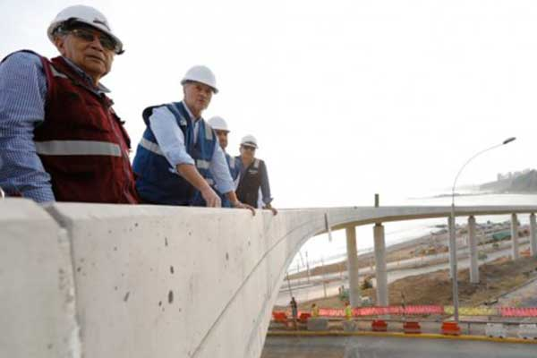 Jorge Muñoz anuncia apertura de viaducto Armendáriz de la Costa Verde