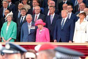 Isabel y Trump homenajean a veteranos de Normandía