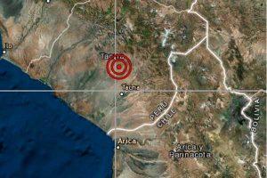 Sismo de magnitud 4.1 sacudió esta mañana la región de Tacna