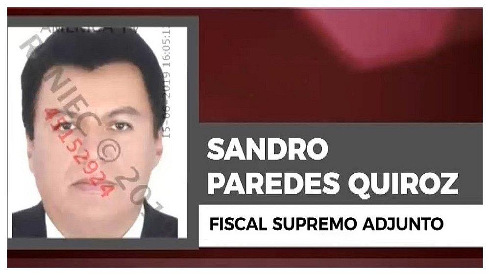 Suspenden por 24 meses al fiscal supremo adjunto Sandro Paredes