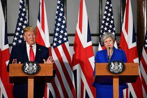 May y Trump aspiran a un pacto comercial