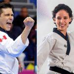 Hugo del Castillo y Marcela Castillo obtienen medallas de plata en Taekwondo