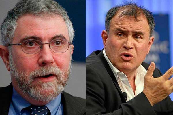 Krugman y Roubini presagian recesión