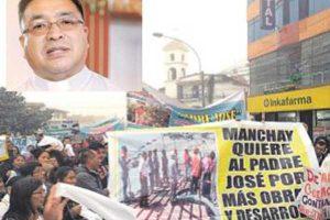 Pobladores rechazan cambio de párroco
