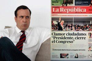 """Mariátegui indignado con portada """"golpista"""" de un diario local"""