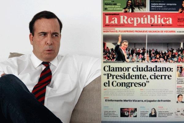 Mariátegui indignado con portada «golpista» de un diario local