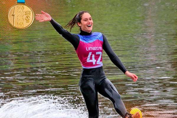 Lima 2019: peruana Natalia Cuglievan ganó medalla de oro en esquí acuático
