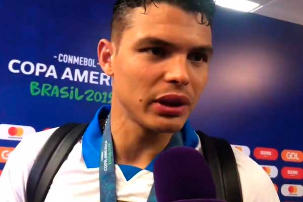 Thiago Silva lamenta que Messi dijera que Brasil fue favorecido en la Copa América