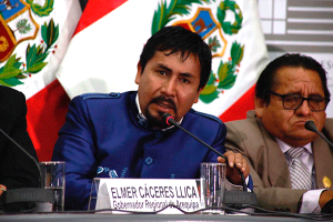 Elmer Cáceres demandará la vacancia del presidente Martín Vizcarra