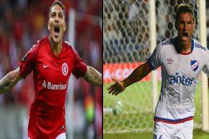 Internacional, con Paolo Guerrero, enfrenta a Nacional por los octavos de final de la Copa Libertadores