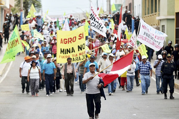 Tía María: Pobladores anuncian paro desde el 15 de julio