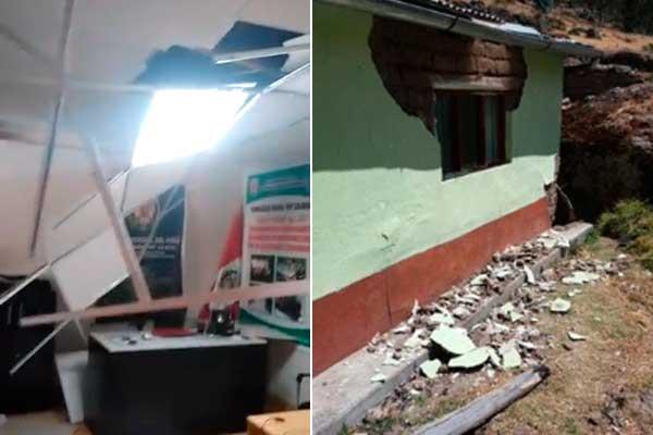 Sismos en Áncash: reportan daños materiales en dos colegios y una comisaría [VIDEO]
