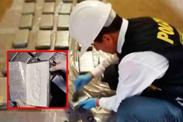 Callao: PNP decomisa cerca de 50 kilos de cocaína de un contenedor