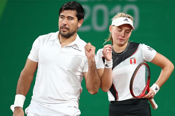 Sergio Galdos y Anastasia Iamchkine ganan la medalla de bronce en dobles mixtos de tenis