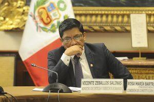 Pleno aprueba interpelar a ministro Vicente Zeballos