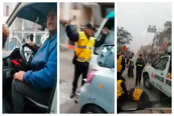 Ate: Colectivero informal atropella a inspector por evitar intervención [VIDEO]