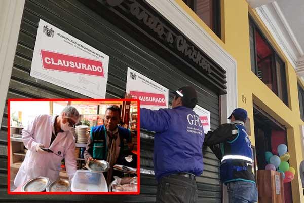 Clausuran 4 pollerías del Centro de Lima