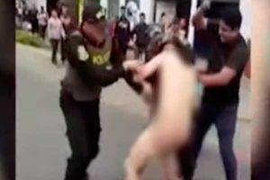 Callao: sujeto desnudo atacó a una mujer con un martillo [VIDEO]