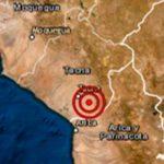 Sismo de magnitud 5.0 remeció esta mañana la región de Tacna