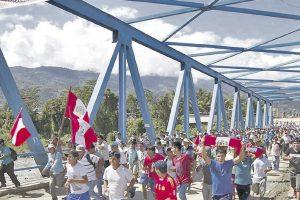 Protestas contra la erradicación de coca
