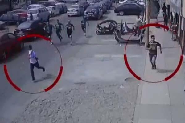 Ladrones son capturados por un oficial y 20 estudiantes de una academia prepolicial