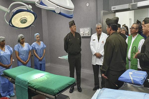 Inauguración de Sala de Aislados y Salas de Operaciones del Hospital Militar Central