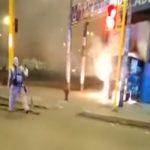 La Victoria: presuntos delincuentes queman puesto de periódicos