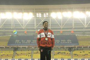 José Luis Casas consigue medalla de plata en los Juegos Mundiales Militares China 2019