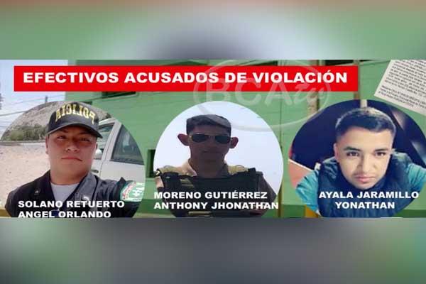 Barranca: Dictan 9 meses de prisión preventiva para tres policías por violación