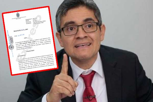 Multan a fiscal Domingo Pérez por declaraciones políticas